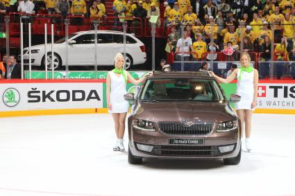 SKODA Modell-Powerplay bei 78. IIHF Eishockey-WM in Weißrussland (FOTO)