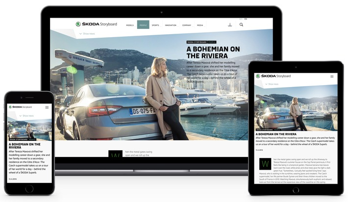 SKODA Storyboard: Kommunikation und Marketing starten neue Online-Plattform