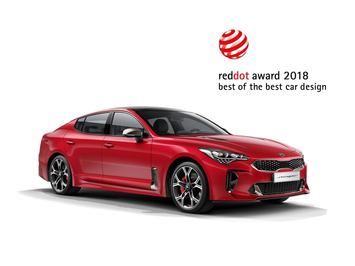 Erneuter Design-Hattrick: Kia holt drei Red Dot Awards, Goldmedaille für Stinger
