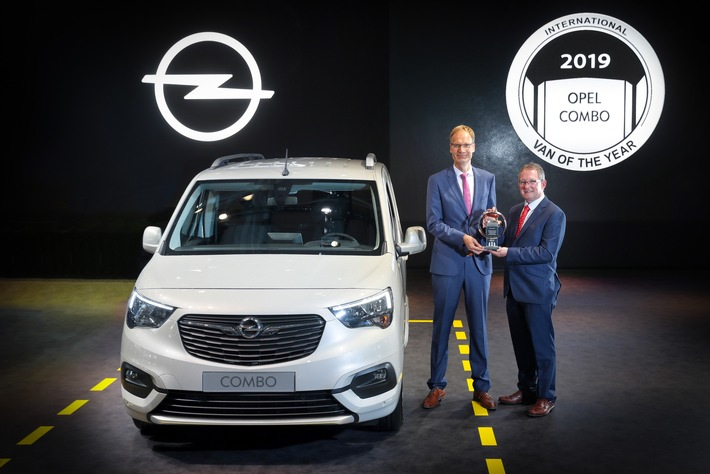 Neuer Opel Combo zum International Van of the Year 2019 gewählt